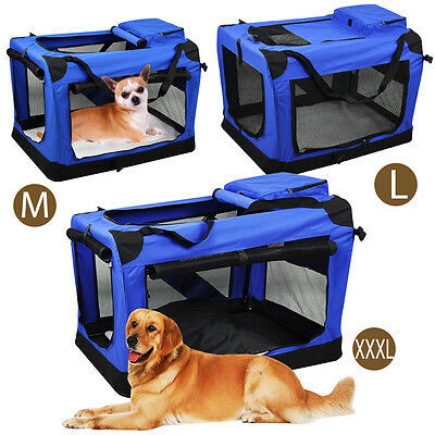 AU Foldable Dog Cage Crate Soft Sided Pet Carrier Training Kennel Portable