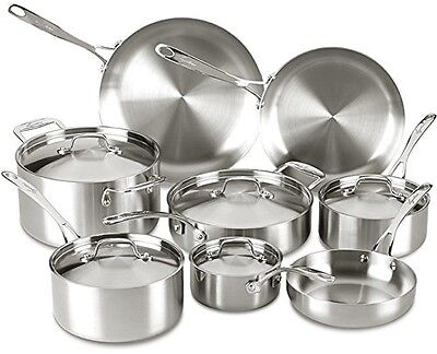 Lagostina Q555SD Axia Tri-Ply Stainless Steel Dishwasher Safe Oven Safe Cookware