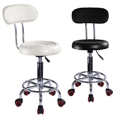Adjustable Beauty Spa Salon Stool Barber Tattoo Hairdresser Chairs Black / Red