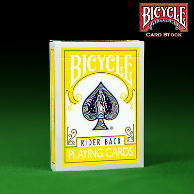 Yellow Backed Bicycle Playing Cards  / Deck  - Genuine Bicycle + 2 Gaff Cards