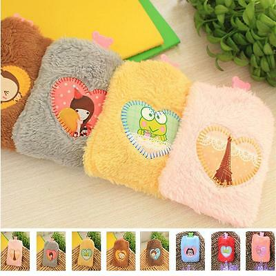 Portable Cute Cartoon Hot Water Bag Bottle Fluffy Plush Home Office Travel GC