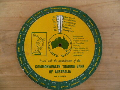 Vintage Old Commonwealth Trading Bank Advertising Currency Indicator, (B728)