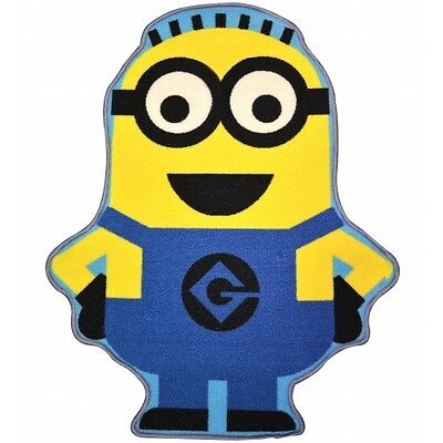 Despicable Me 'Minion Dave' Shaped Rug Brand New Gift