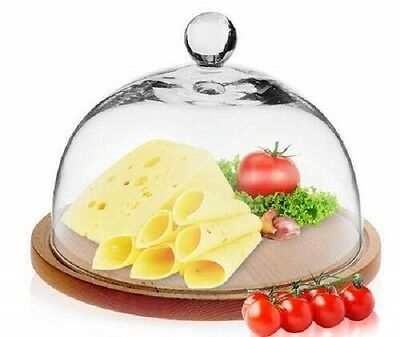 Handmade Glass 21 cm Cake Cheese Dome ONLY   Festive Lido Collection