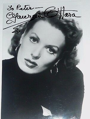 Maureen Ohara Actress The Quiet Man Hand Signed Photograph 6 x 4