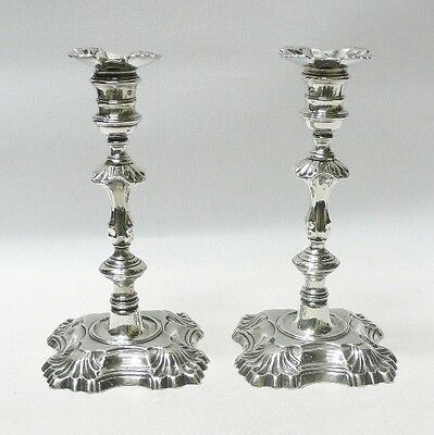 George II Silver Candlesticks by WILLIAM GOULD 1750 Stock ID 8548