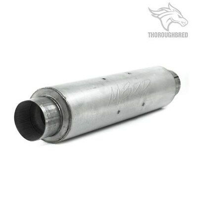 MBRP Exhaust Muffler; Single 4 Inch Center Inlet and Center Outlet;M1004A