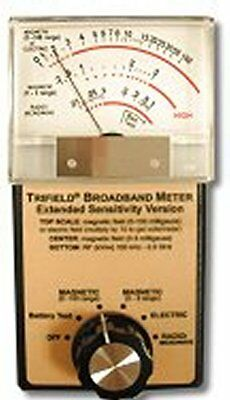 "Trifield ""Extended Range, Broadband"" Electric, Magnetic and Radiofrequency Meter"