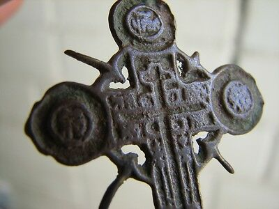 Nice Late Medieval Period  Big (!)  Bronze Cross #4774