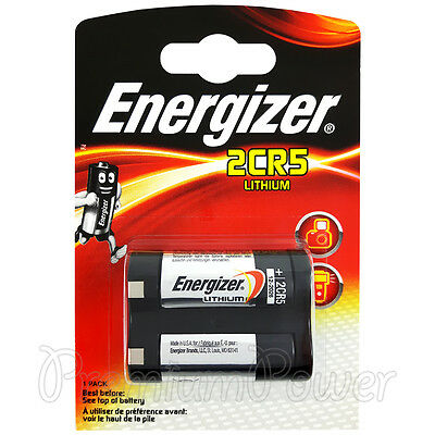 1 x Energizer Lithium 2CR5 battery 3V DL245 ELCR5 KL2CR5 Photo Camera EXP:2026