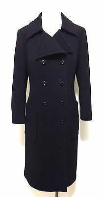CULT VINTAGE '70 Cappotto Donna Lana Woman Wool Long Coat Sz.M - 44