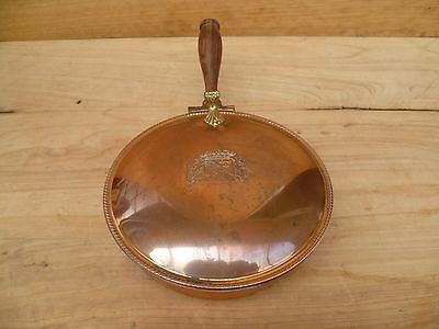 Vintage Old Large Size Copper Serving Tray (B797)