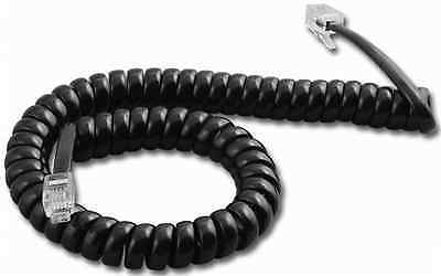 New Black Retractable Male RJ11 Telephone Phone Extension Cable Cord 2 #306