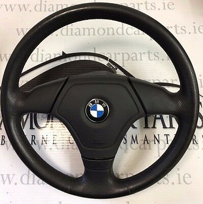 2001 Bmw 3 Series E46 Leather Steering Wheel With Airbag 3-375-E46