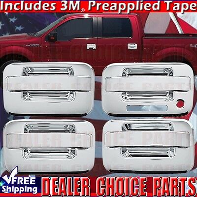 2004 2014 Ford F150 Chrome Abs Door Handle Covers Trims W Keypad W