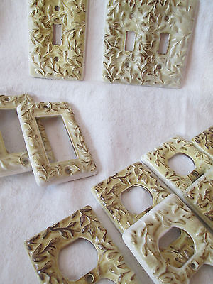 Ceramic Switch Plate ~ Vintage Hardware Restoration Salvage Upcycle, Hand Glazed