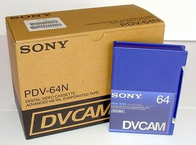 10 x SONY PDV-64N Digital Video Kassette DVCAM Leer = 13,90€/St.