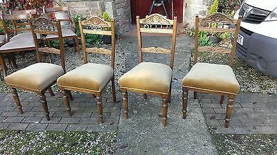Set  Of  Four  Superb  Edwardian  Dining  Chairs
