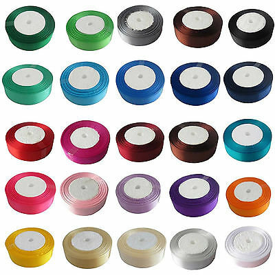 Satin Ribbon Craft Gift Wrapping Sewing Trim 18mm 20mm Colours Metre Roll 99p
