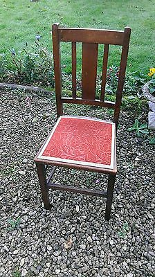 Vintage  Hardwood  Side  Chair