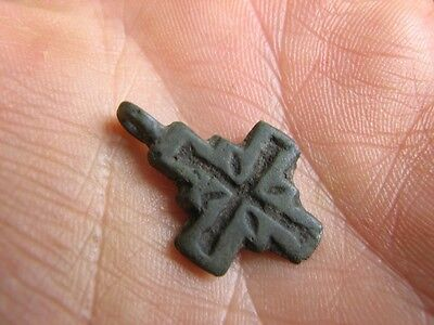 Rare Bronze Viking Cross - Pendant #4809