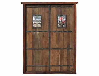 Amazing Antique Double Solid Door #D1032