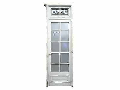 Antique Single Glass Door with Transom #C1478