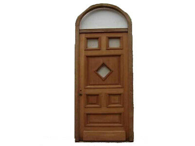 Antique Single Door w/ Arched Transom #B1864
