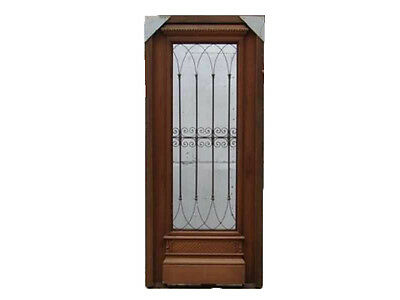 Single Front Door With Wrought Iron #1222