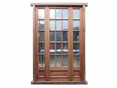Antique Triple French Door w/ Beveled Glass Installed #C1343