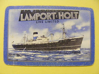 Lamport & Holt Line Vintage Playing Card Ss Romney