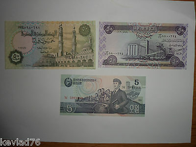 Banknotes World 3  Mixed New Unc Free Post