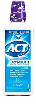 Act Total Care Mouthwash Dry Mouth Soothing Mint 18 OZ (Pack Of 3)
