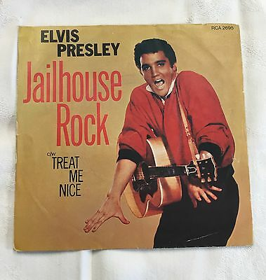"""Elvis Presley 7"""" 45 Record PICTURE SLEEVE ONLY Jailhouse Rock"""