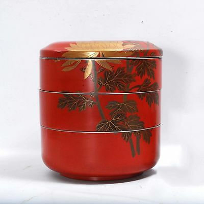 Antique Japanese Lacquer Jubako/Bento Box