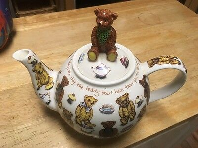 Teddy Bear Teapot -Ted Tea Party Ceramic England Paul Cardew