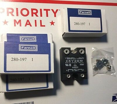 Set of 4 NEW Crydon A4850 Solid State  Relay Input 90-280V Output 280/480V 50A