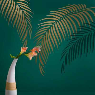 Palm Frond Stencil - Tropical Wall Art Design for an Easy Room Transformation