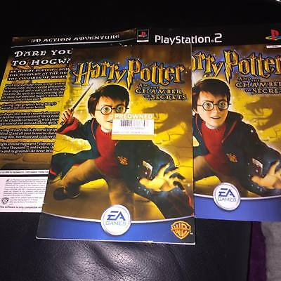 MANUAL And Artwork For harry potter chamber of secrets Ps2 NO GAME DISC INCLUDED