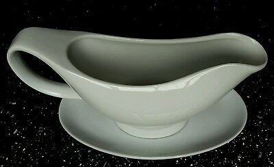 Fine White Porcelain Gravy Boat with Saucer 400ml BNIB