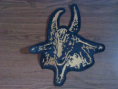Bathory ( Goat),sew On Golden Embroidered Large Back Patch