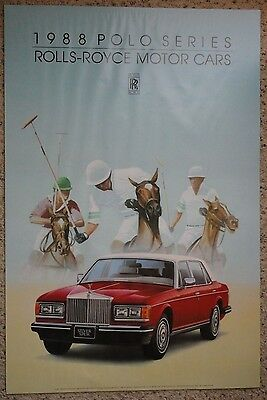 Rolls Royce Advertising Poster Polo Players 1988