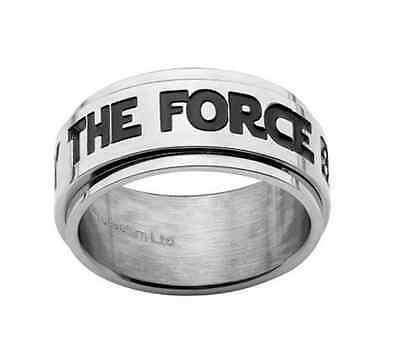 Stainless Steel✿Disney Star Wars MAY THE FORCE BE WITH YOU Spinner Ring ✿Size 8