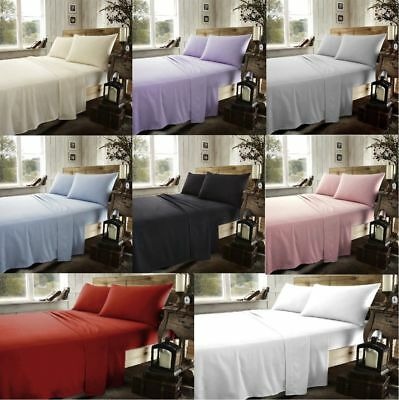 Brushed Cotton Flannelette Fitted Sheet Thermal Flannel Sheet Or Pillow Case