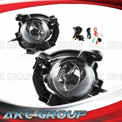 Cobra Tek For 2014-2016 Nissan Rogue Clear Lens Chrome Housing Fog Lights Lamp