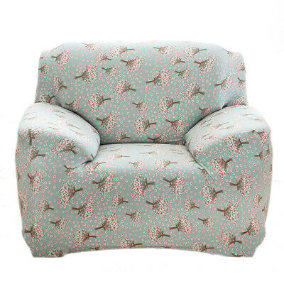 1 3 Seater Stretch Sofa Slipcover Elastic Floral Couch Furniture Cover Washable