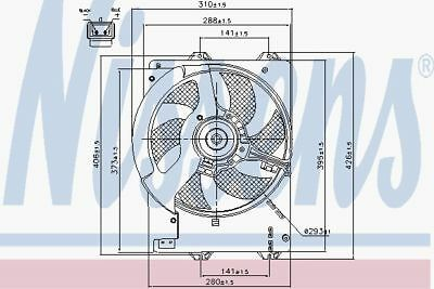 NISSENS Radiator Cooling Fan OE Quality - 85444