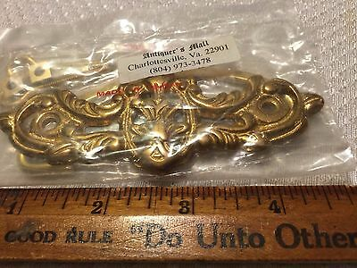 Ornate French Victorian Solid Brass Furniture Pulls Antique DIY Hardware