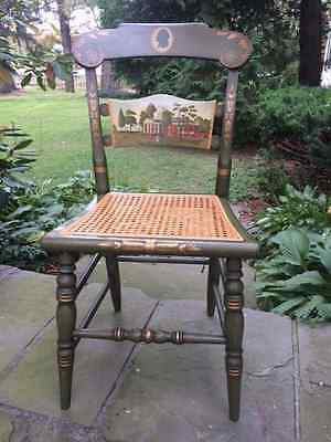 Hitchcock Chair ~SIGNED LIMITED ED. PAINTED PRESIDENTIAL CHAIR~Thomas Jefferson