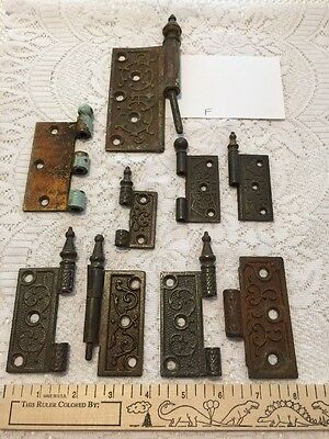 Lot of Victorian Hinges Multi Size